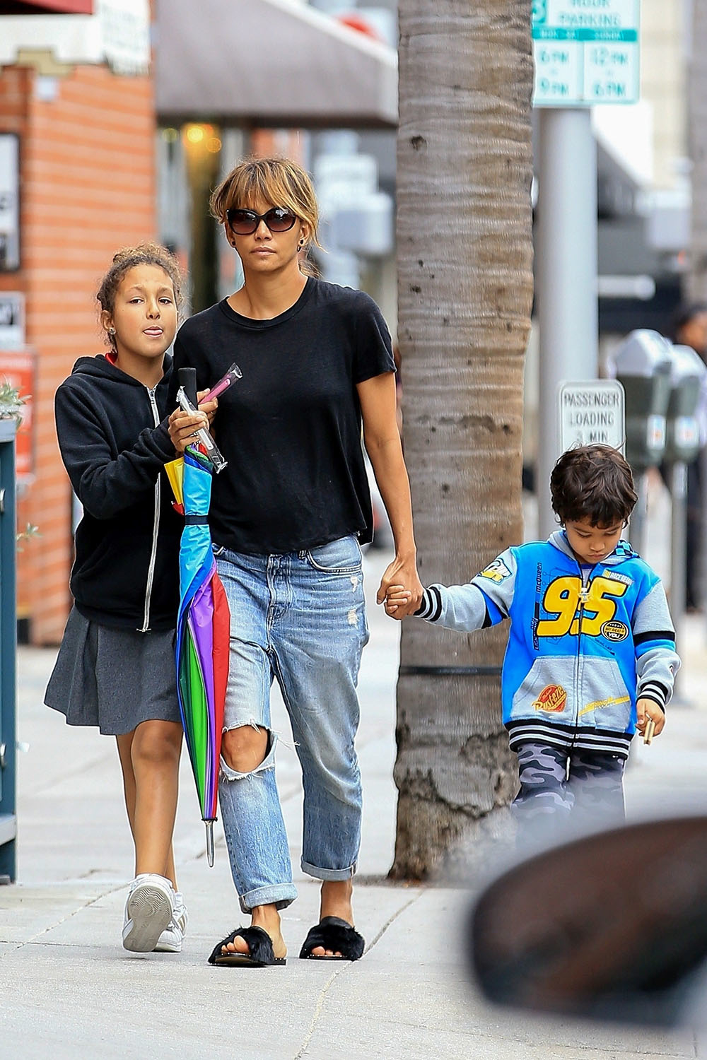 Halle Berry Visits The Dentist With Nahla And Maceo