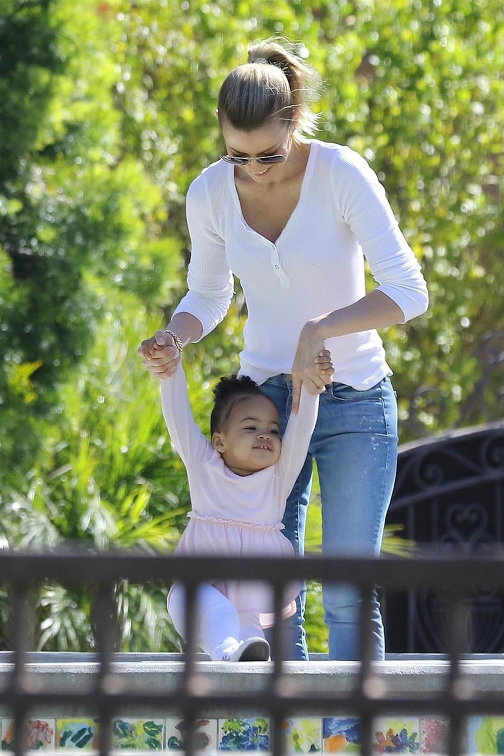 Paige Butcher And Daughter Izzy Spend Time At The Park