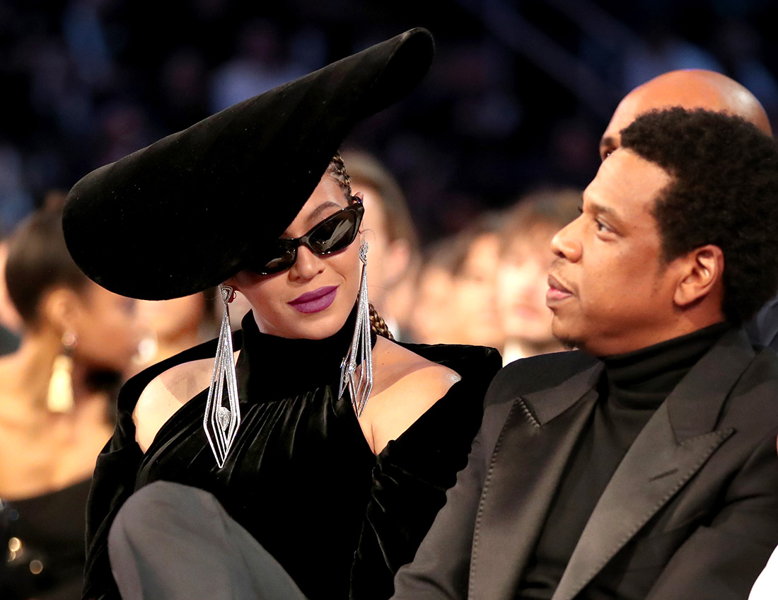 Beyonce and JAY-Z at 60th Annual GRAMMY Awards