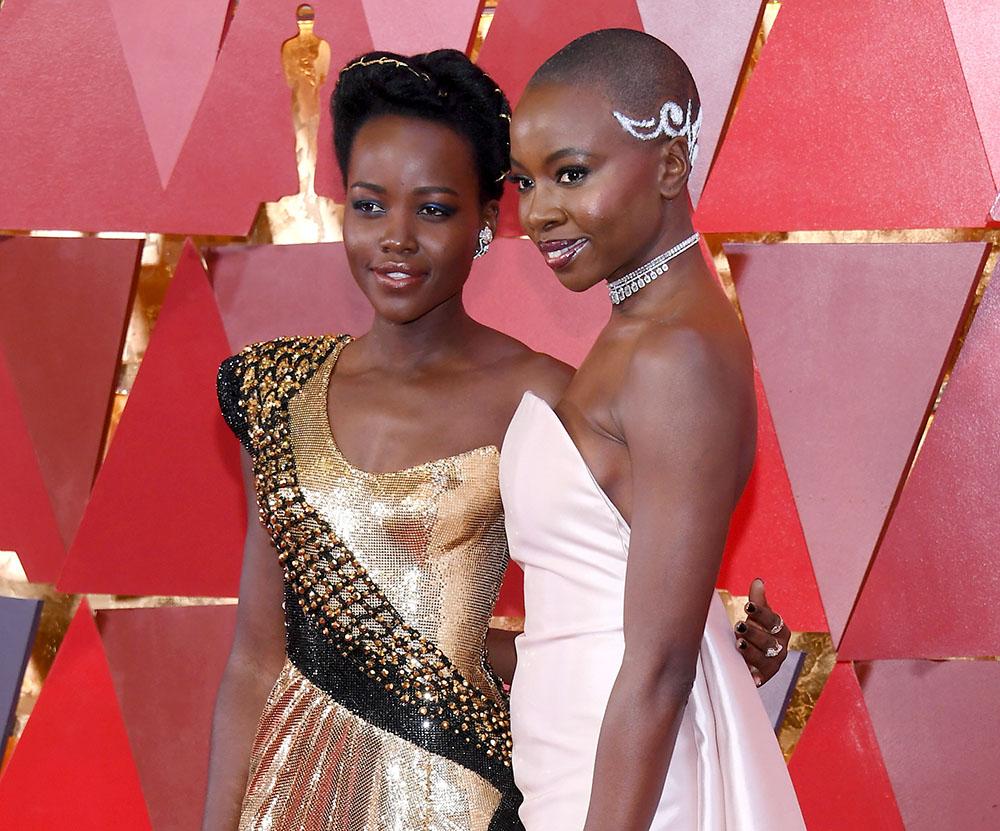 Lupita Nyong'o & Danai Gurira at the 90th Annual Academy Awards