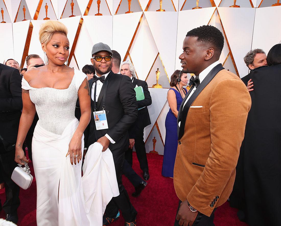 Mary J Blige & Daniel Kaluuya at the 90th Annual Academy Awards