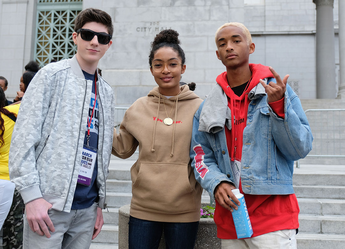 Mason Cook, Yara Shahidi, Jaden Smith