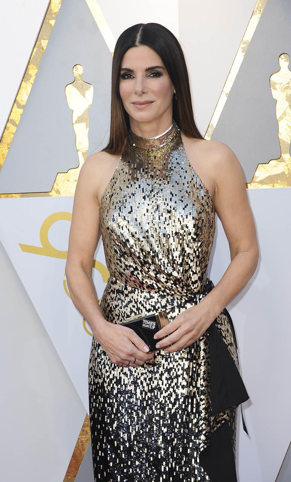 Sandra Bullock at the 90th Academy Awards