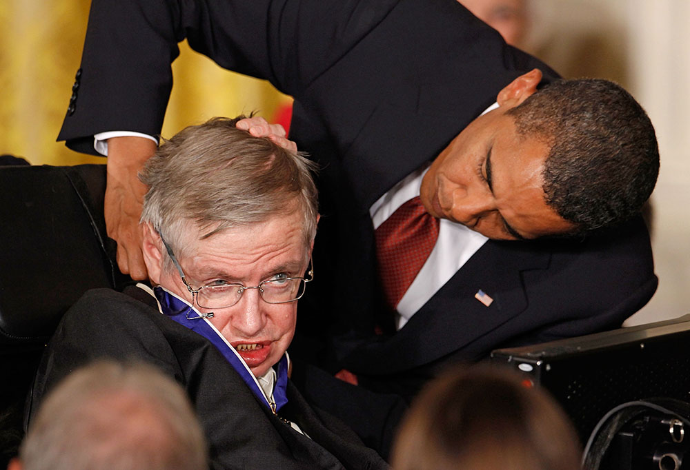 Stephen Hawking, Barack Obama