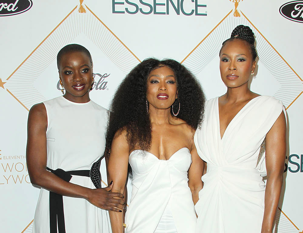 Danai Gurira, Angela Bassett, Sydelle Noel attends the 2018 Essence Black Women In Hollywood
