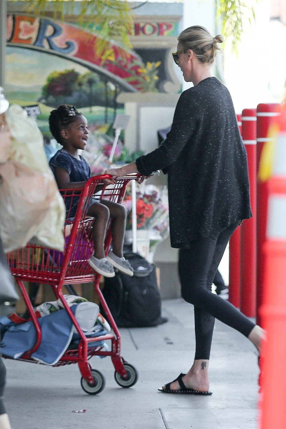 Charlize Theron And Little August Get Some Shopping Done