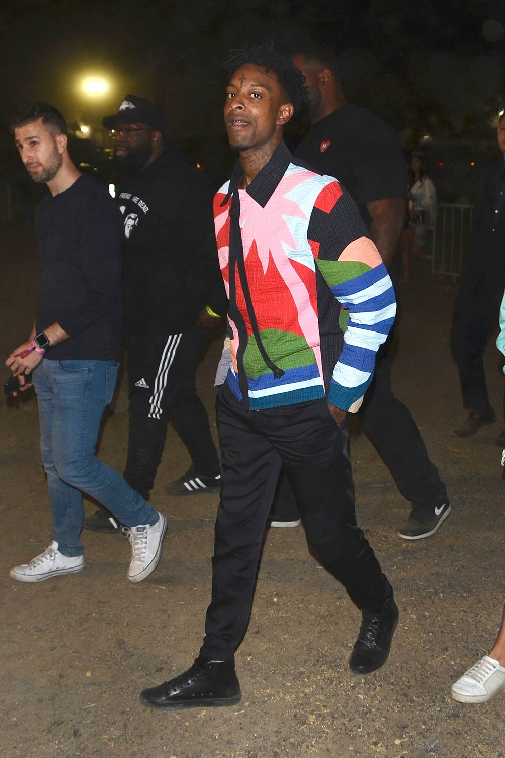 21 Savage Arrives At The Neon Carnival Sandra Rose