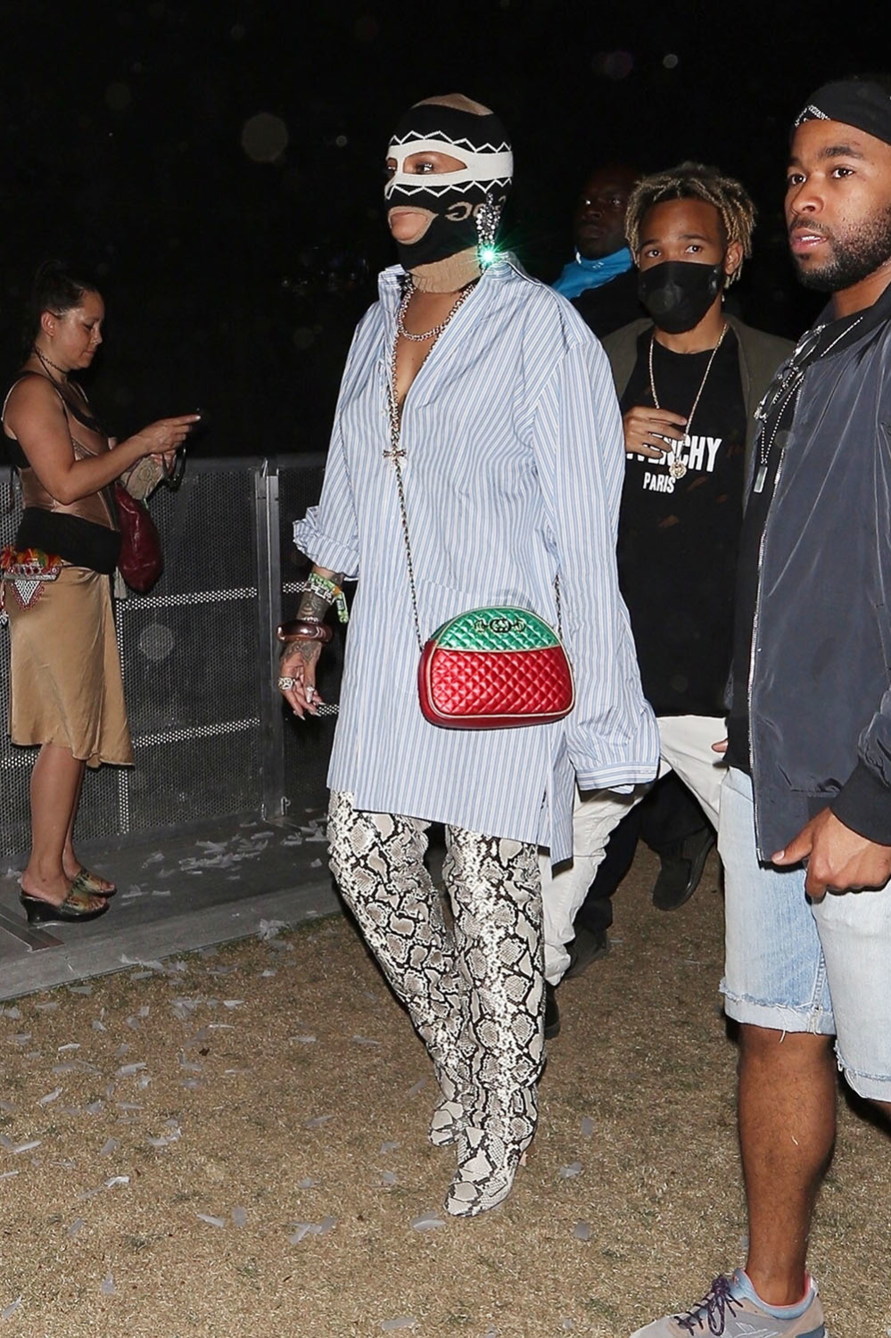 *EXCLUSIVE* Rihanna tries to go incognito during Coachella