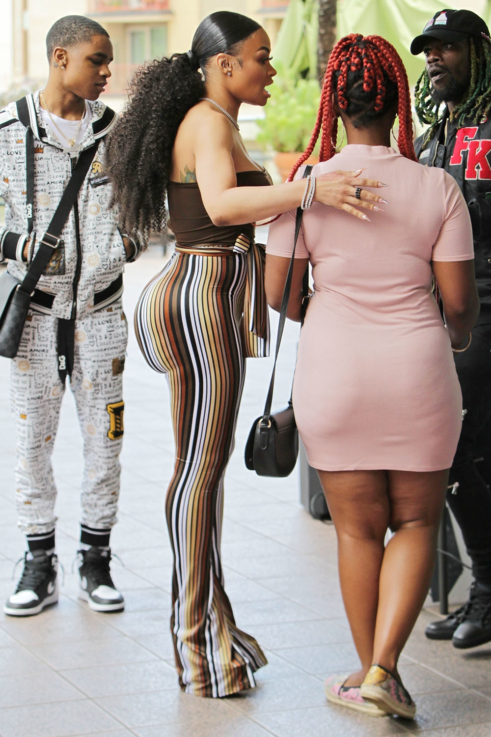 Blac Chyna And YBN Almighty Jay Pack On The PDA Sandra Rose