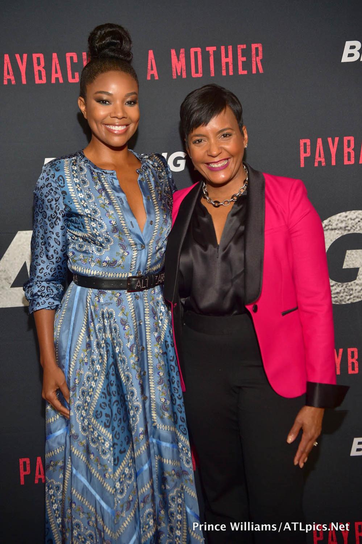 Gabrielle Union Mayor Keisha Lance Bottoms Sandra Rose