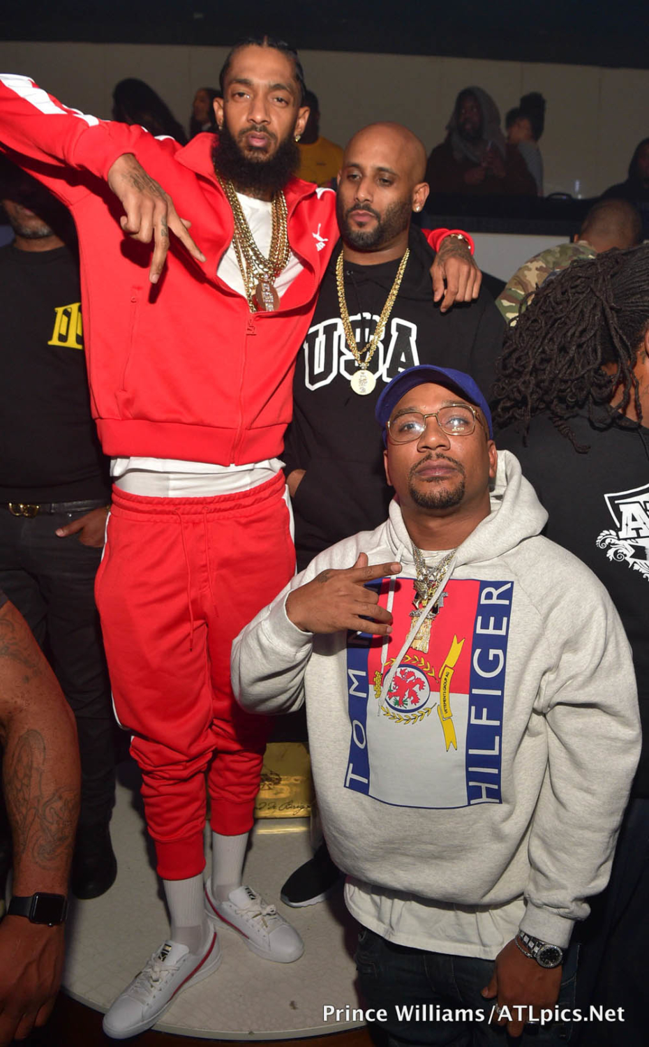 nipsey hussle hosts gold room in atlanta