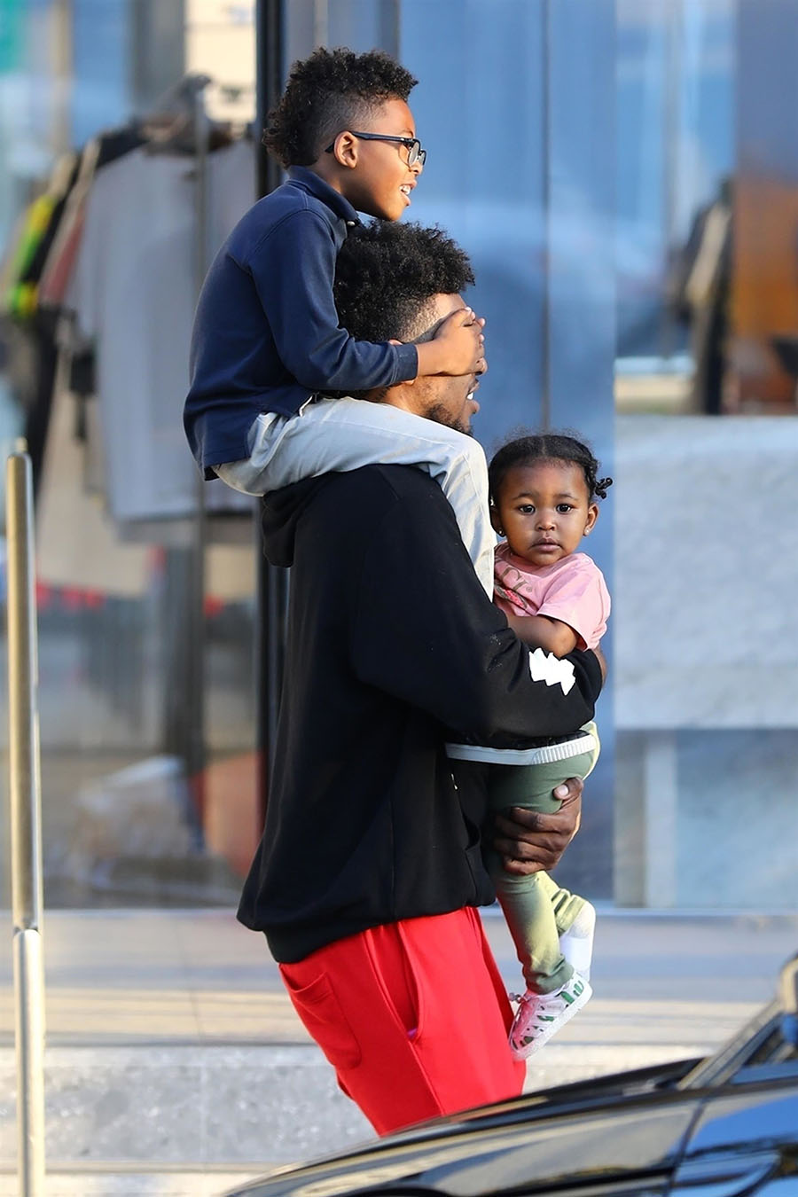 Celebrity Kids: Nick Young and Kids at BAPE Store