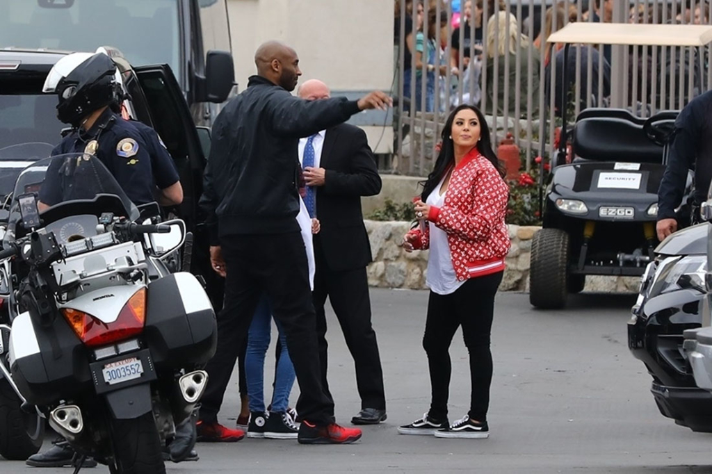 Kobe Bryant Is Greeted By Police As He Arrives At The Rose