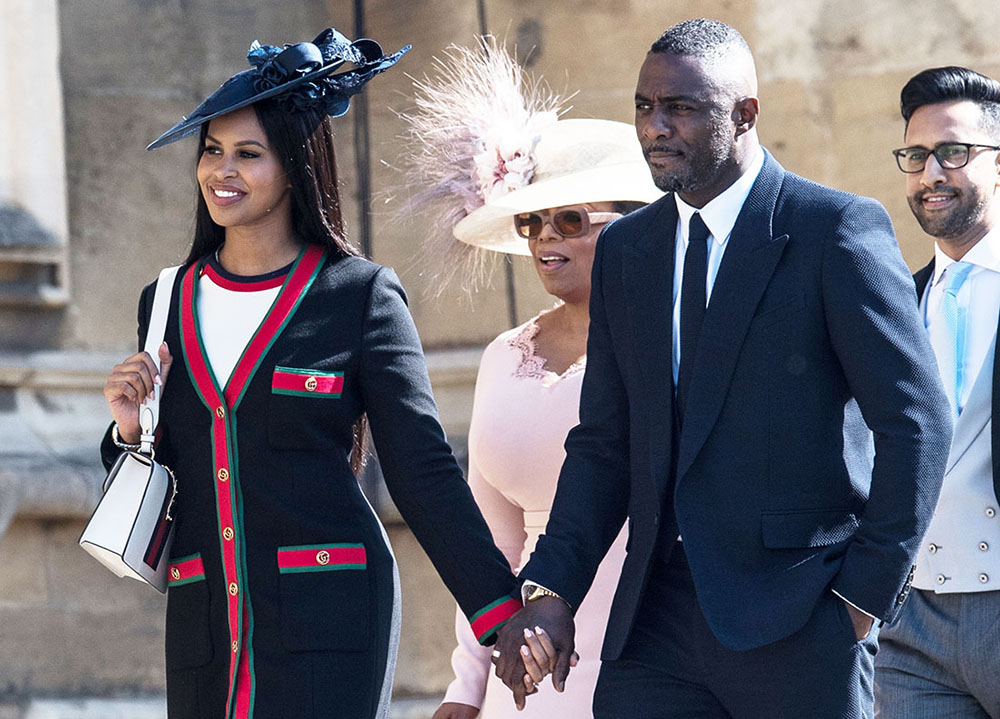 idris elba  u0026 sabrina dhowre attend the wedding of prince