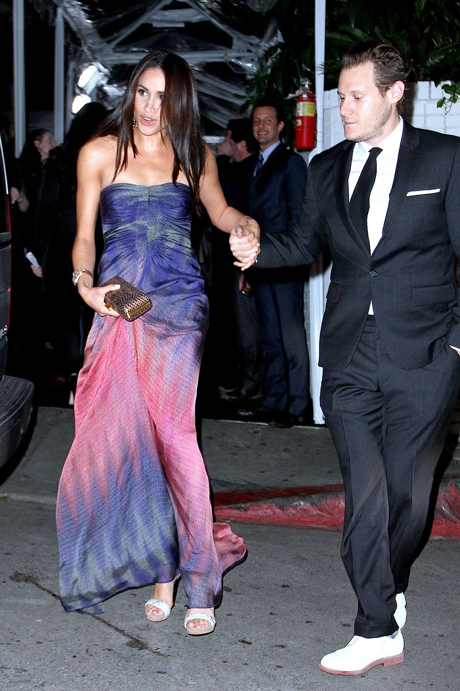 Meghan Markle and ex-husband Trevor Engelson picture at an ...