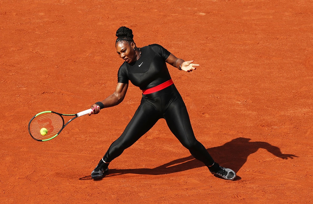 Serena Williams Of The United States Competes During Her