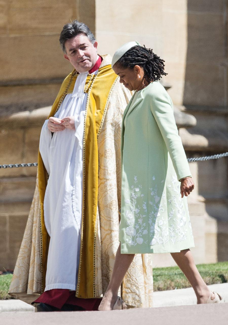 meghans mom doria ragland arrives at the wedding of