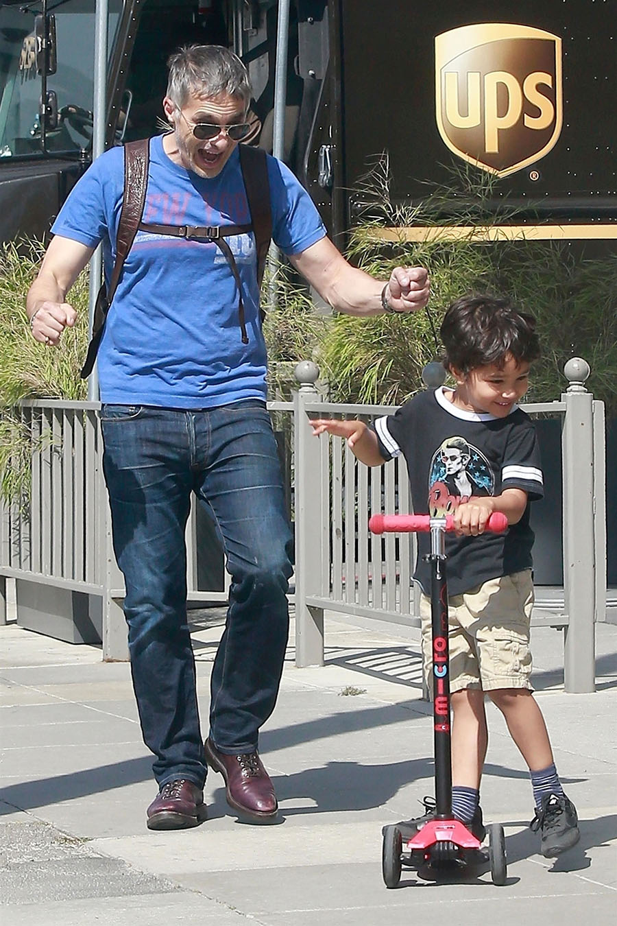 Olivier Martinez Enjoys His Afternoon Out With His Son