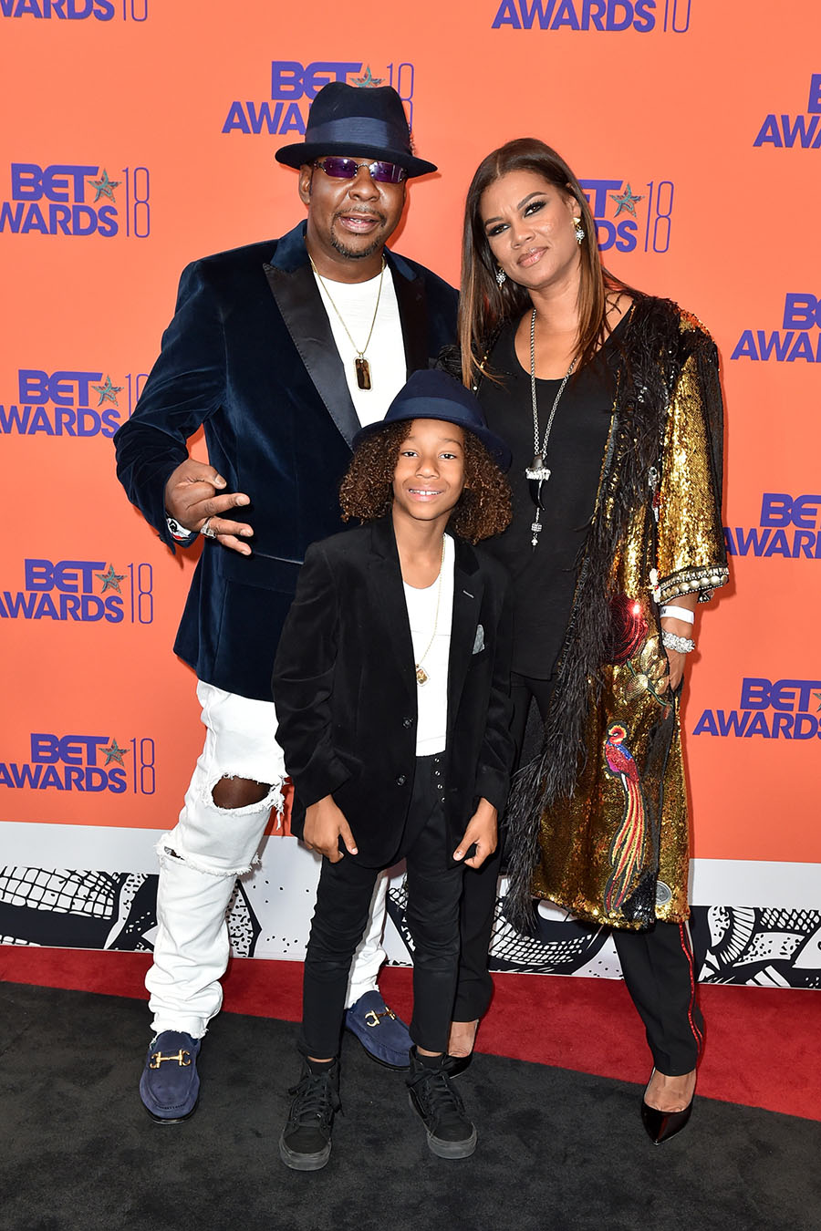 Bobby Brown Alicia Etheredge And Cassius Brown Pose In
