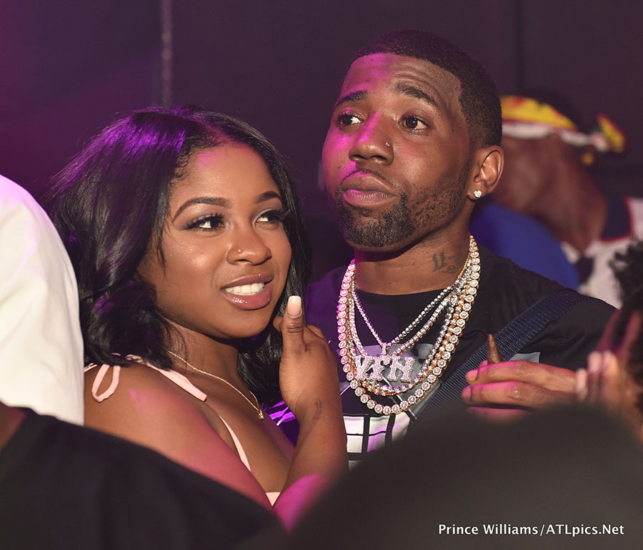 Reginae Carter And Rapper Yfn Lucci Attend Pierre Pee