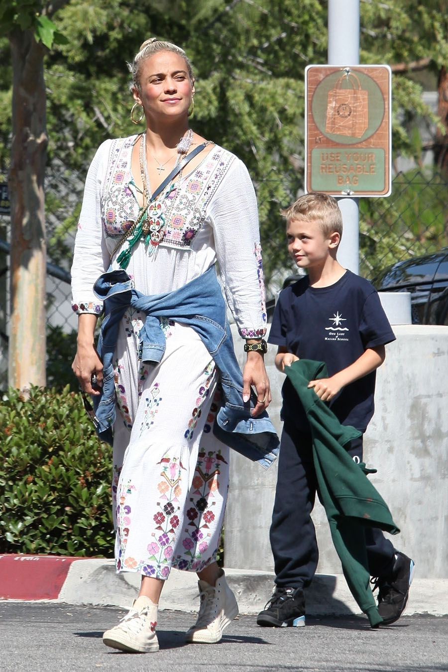 Paula Patton Took Her Son Julian Fuego Thicke Grocery Shopping At