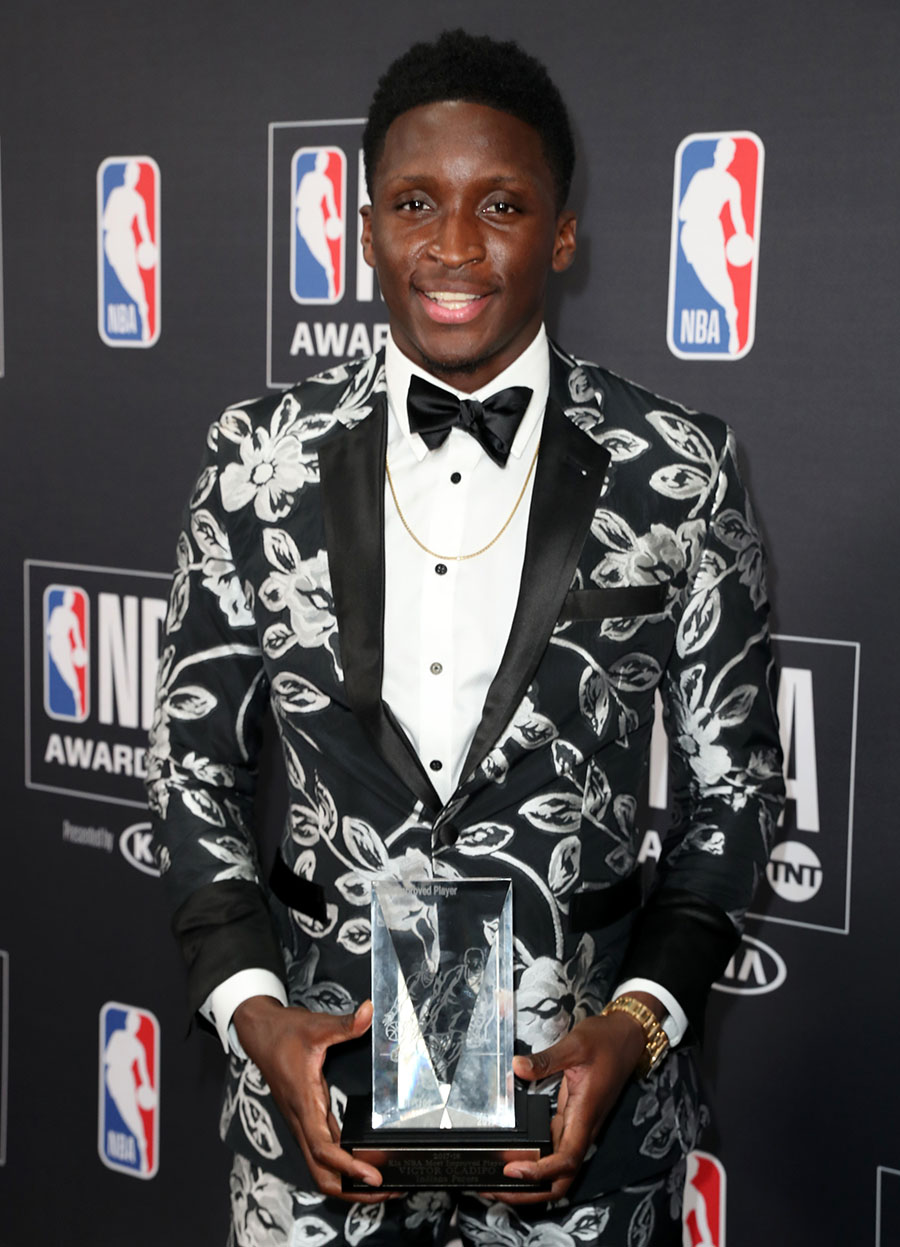 most improved player victor oladipo attends the 2018 nba