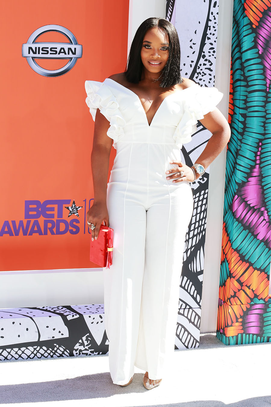 Yandy Smith attends the 2018 BET Awards at Microsoft ...