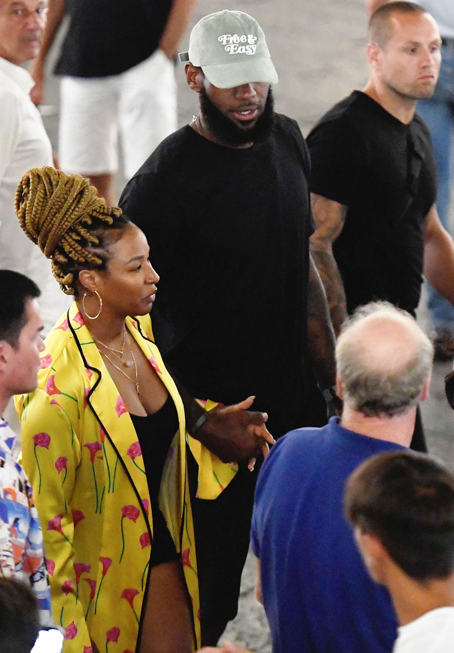 lebron and savannah james continue their extended vacation
