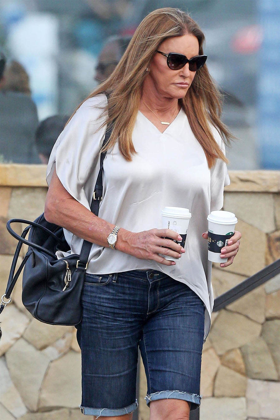 Caitlyn Jenner Formerly Bruce Stops To Pick Up