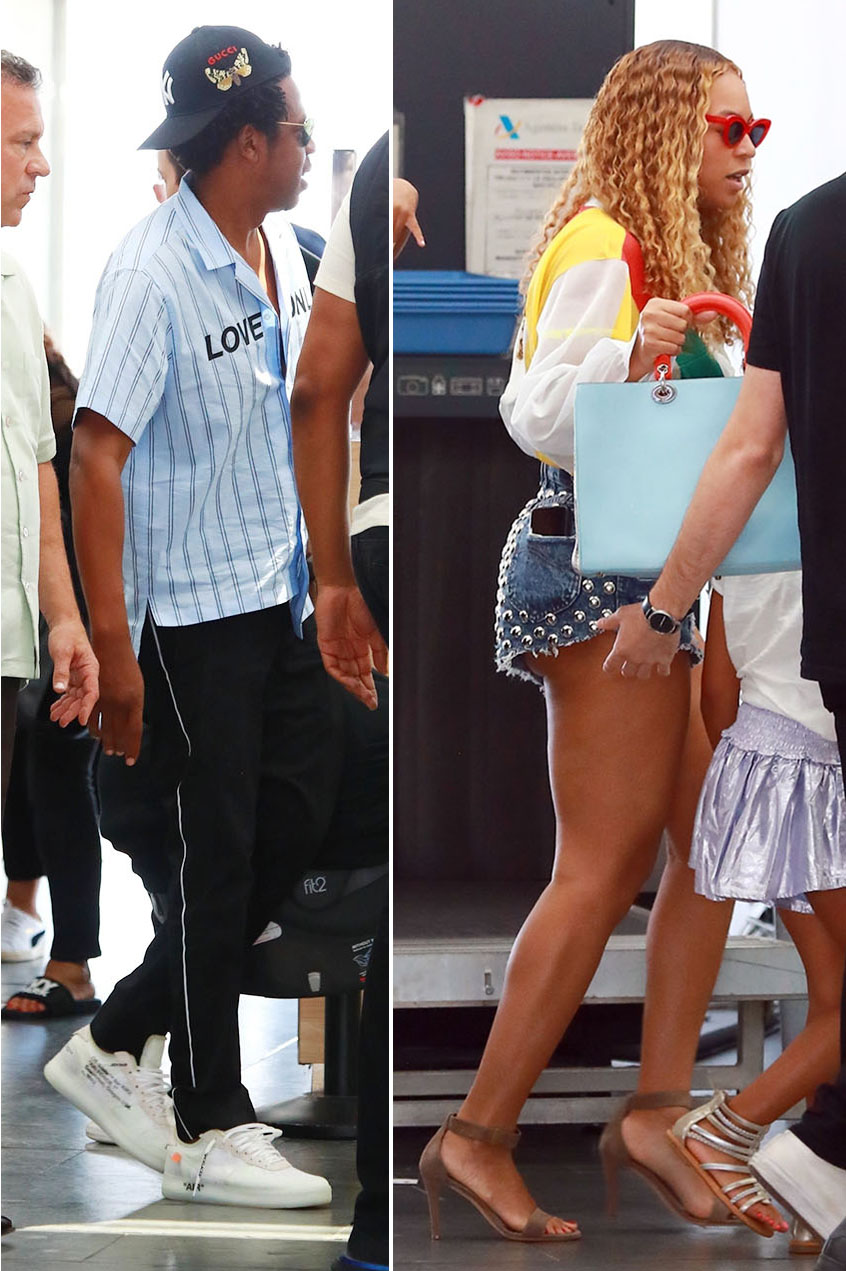 Beyonce and husband Jay-Z are spotted arriving at ...