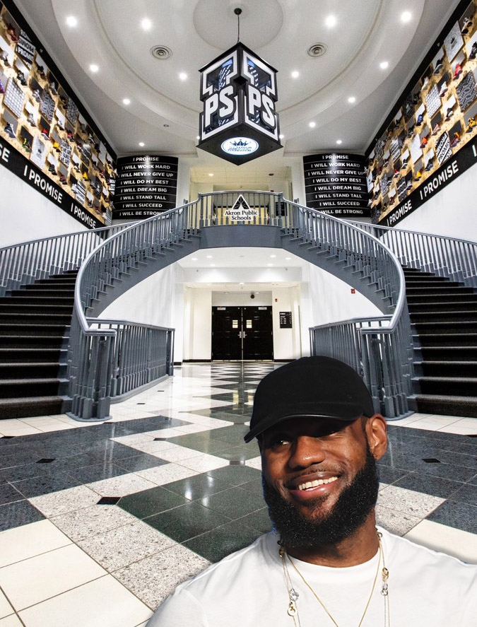 lebron james family foundation i promise school in akron