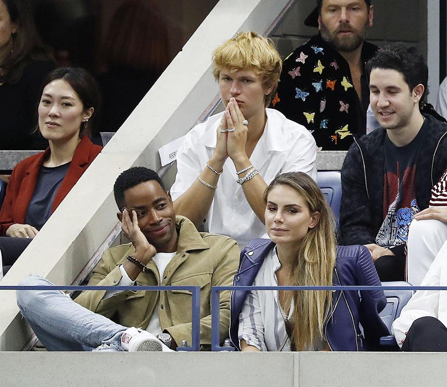 Actor Jay Ellis Left Attended The U S Open Men S