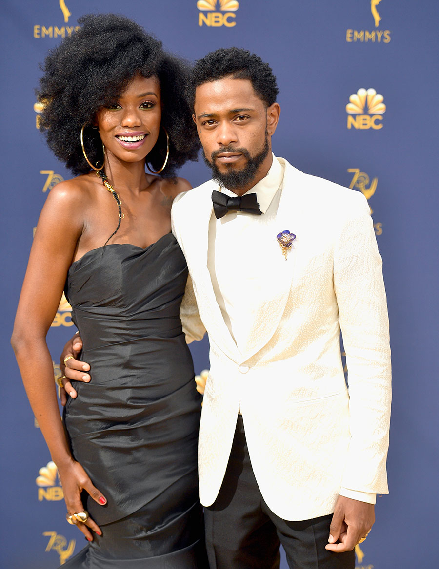 Xosha Roquemore And Lakeith Stanfield Attend The 70th Emmy Awards At Microsoft Theater On