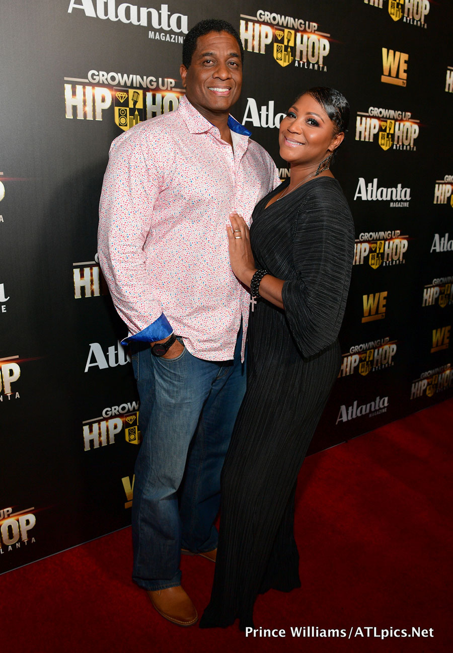 von scales  u0026 trina braxton at wetv celebrates return of