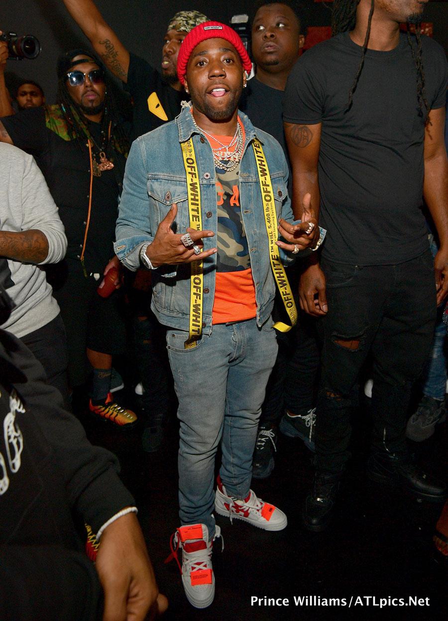 Rapper YFN Lucci attend T I 's 'Dime Trap' Album release