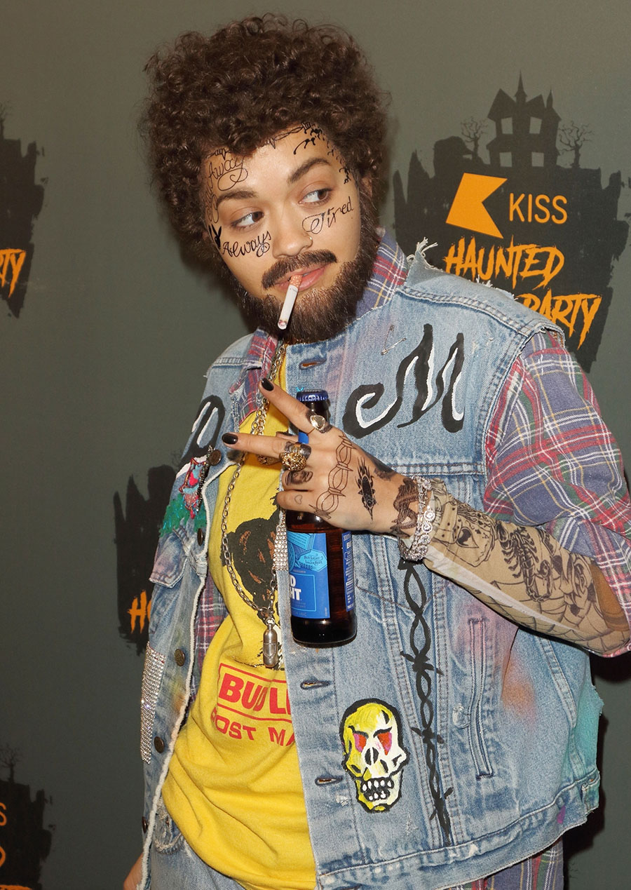 british singer rita ora dresses up as post malone at the