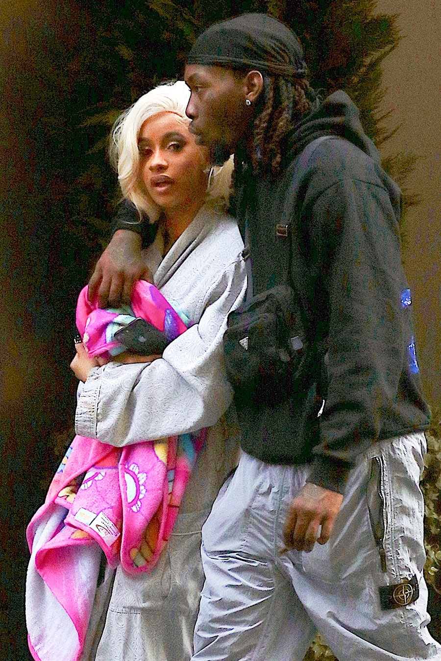Offset Consoles Wife Cardi B After A Hectic Day Following