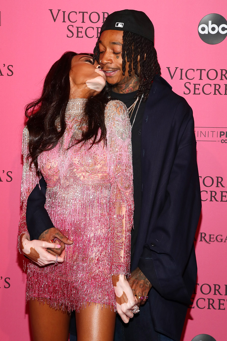 Winnie Harlow And Wiz Khalifa Attend The 2018 Victoria S
