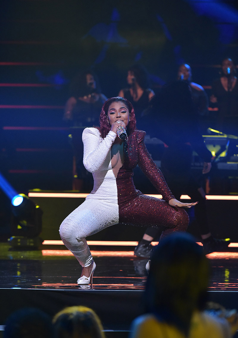 singer ashanti performs at the 2019 bounce trumpet awards