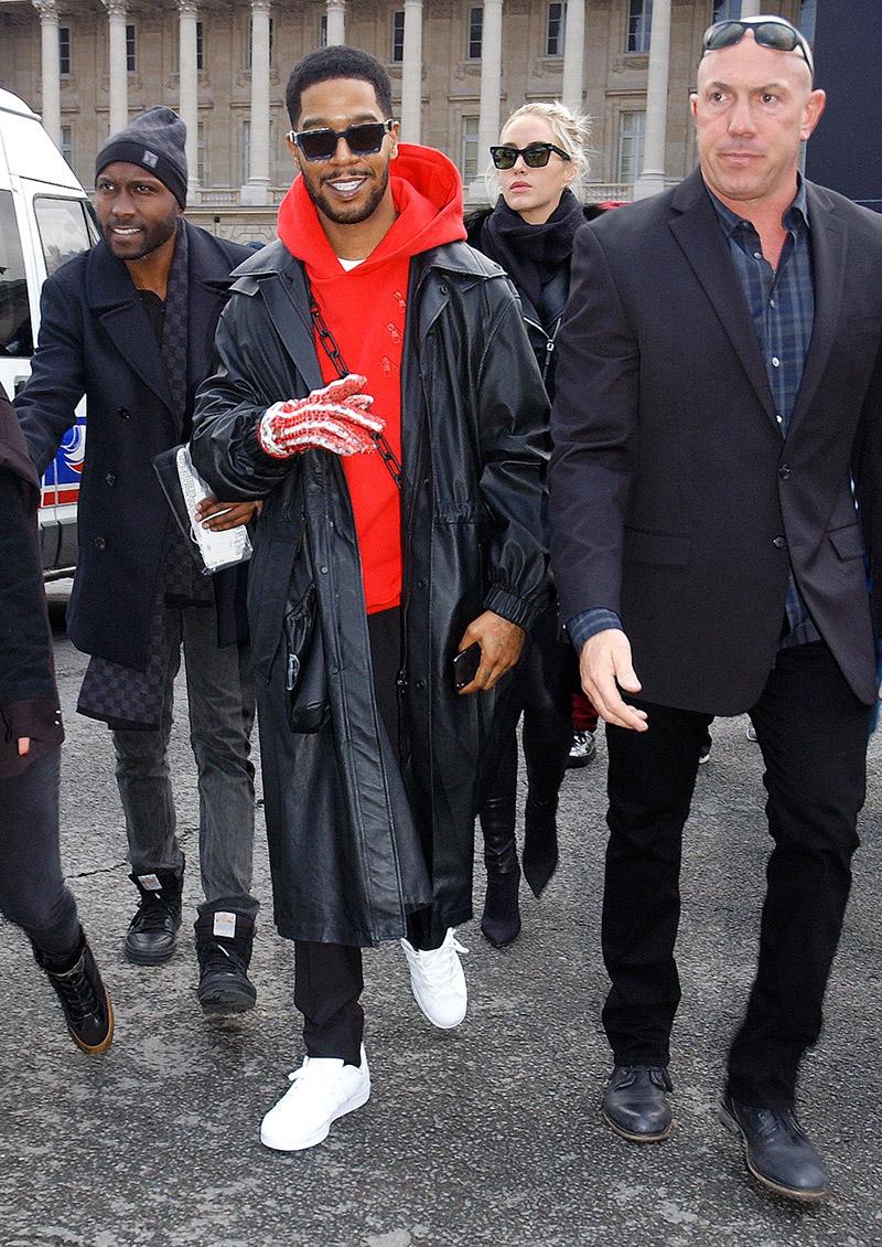 Rapper Kid Cudi Attends The Louis Vuitton Menswear Fall