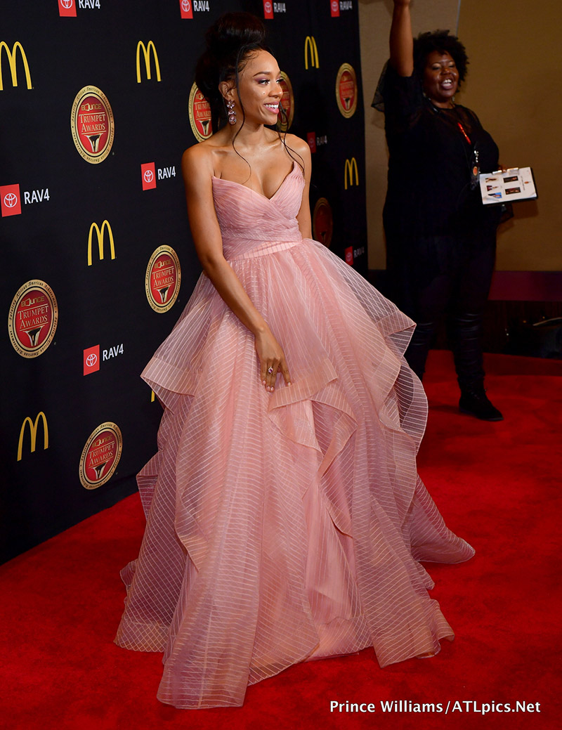 Rapper Lil Mama Attends The 2019 Bounce Trumpet Awards