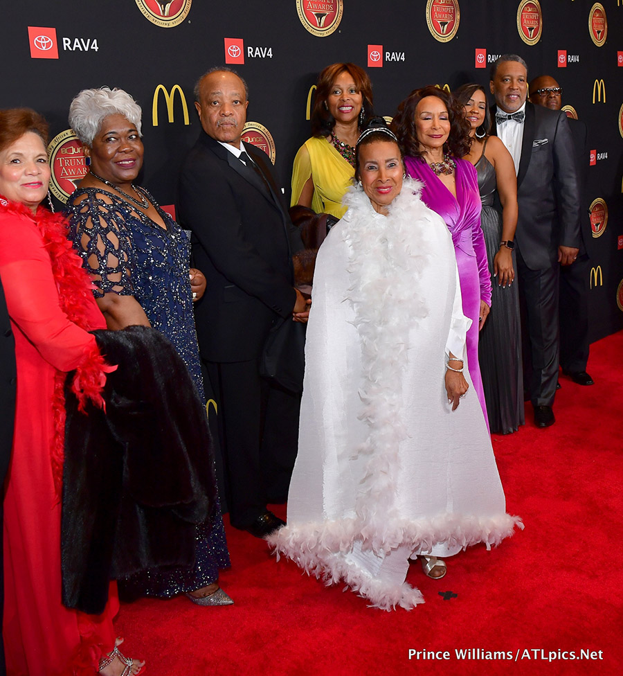 Xernona Clayton In White Attends Her 2019 Bounce Trumpet