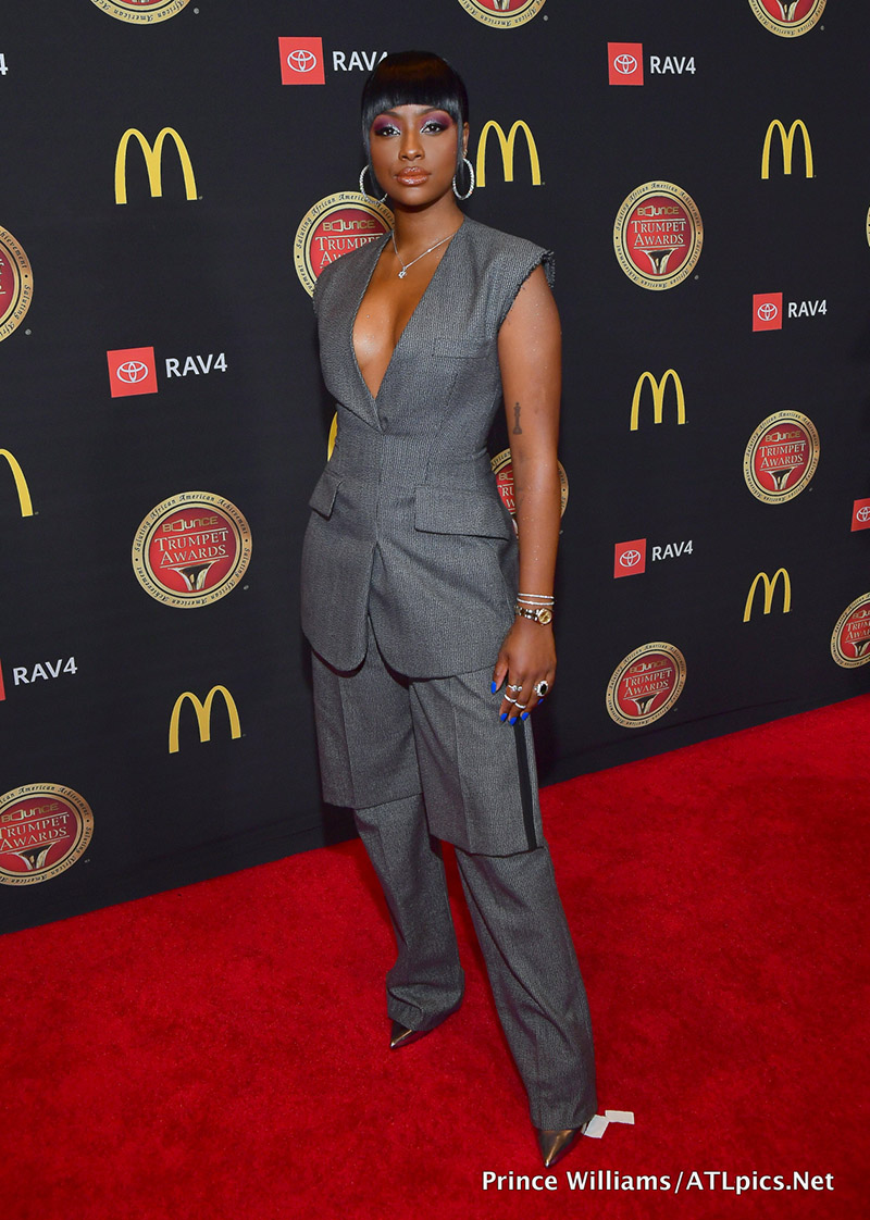 Justine Skye Attends The 2019 Bounce Trumpet Awards Held