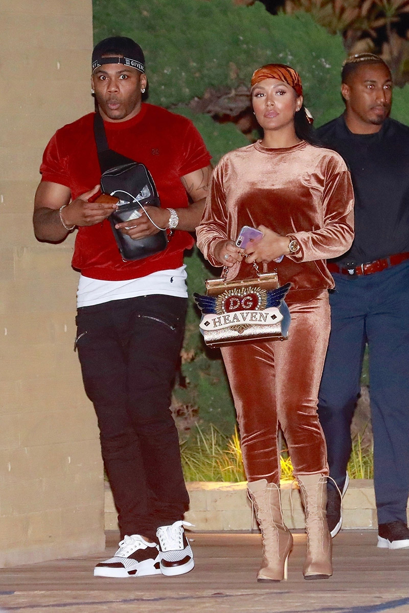 Nelly and Shantel Jackson enjoy a casual dinner date at ...