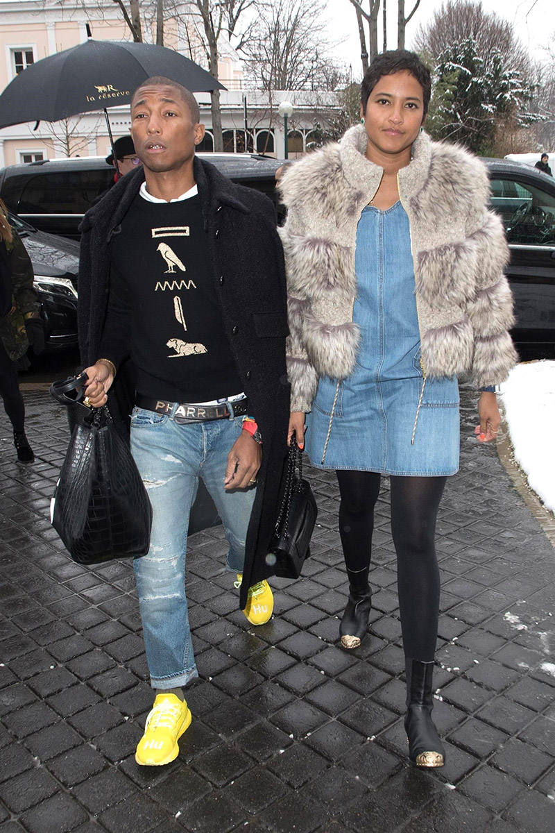 Pharrell Williams And His Wife Helen Lasichanh Show Off