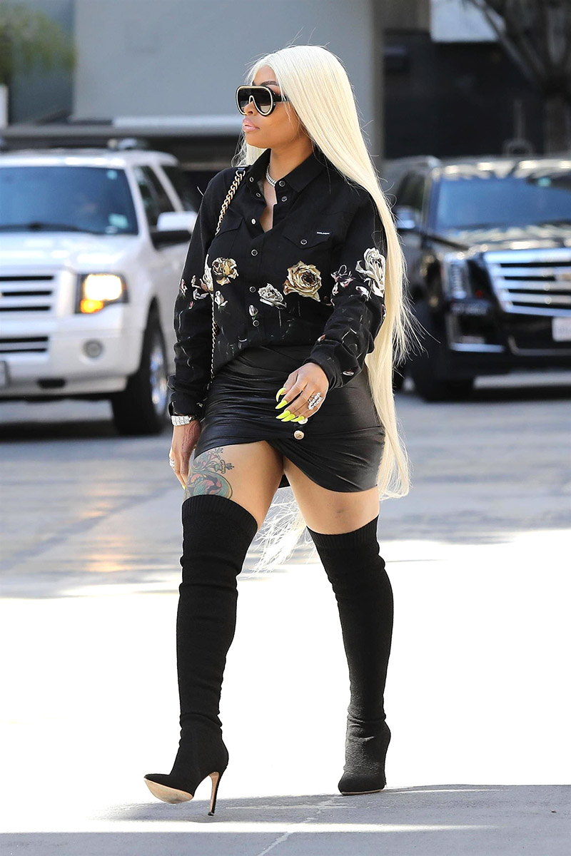 Blac Chyna Is Seen Arriving For A Mediation Meeting