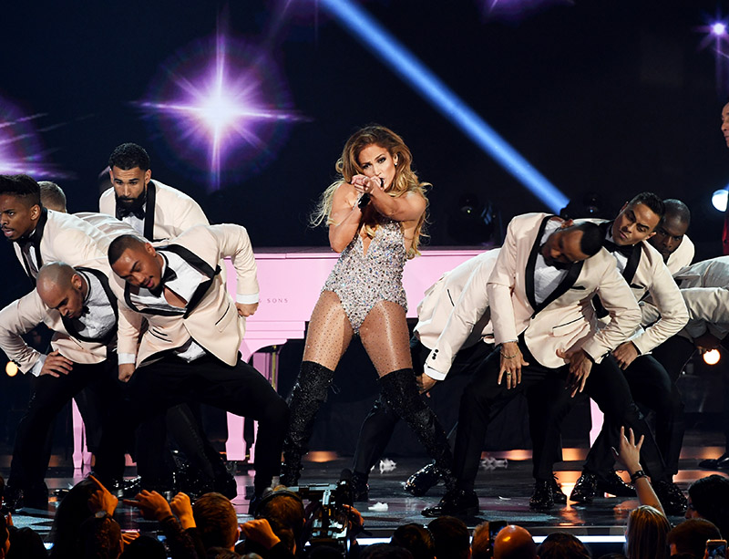 61st Annual Grammy Awards: Jennifer Lopez (C) Performs Onstage During The 61st Annual