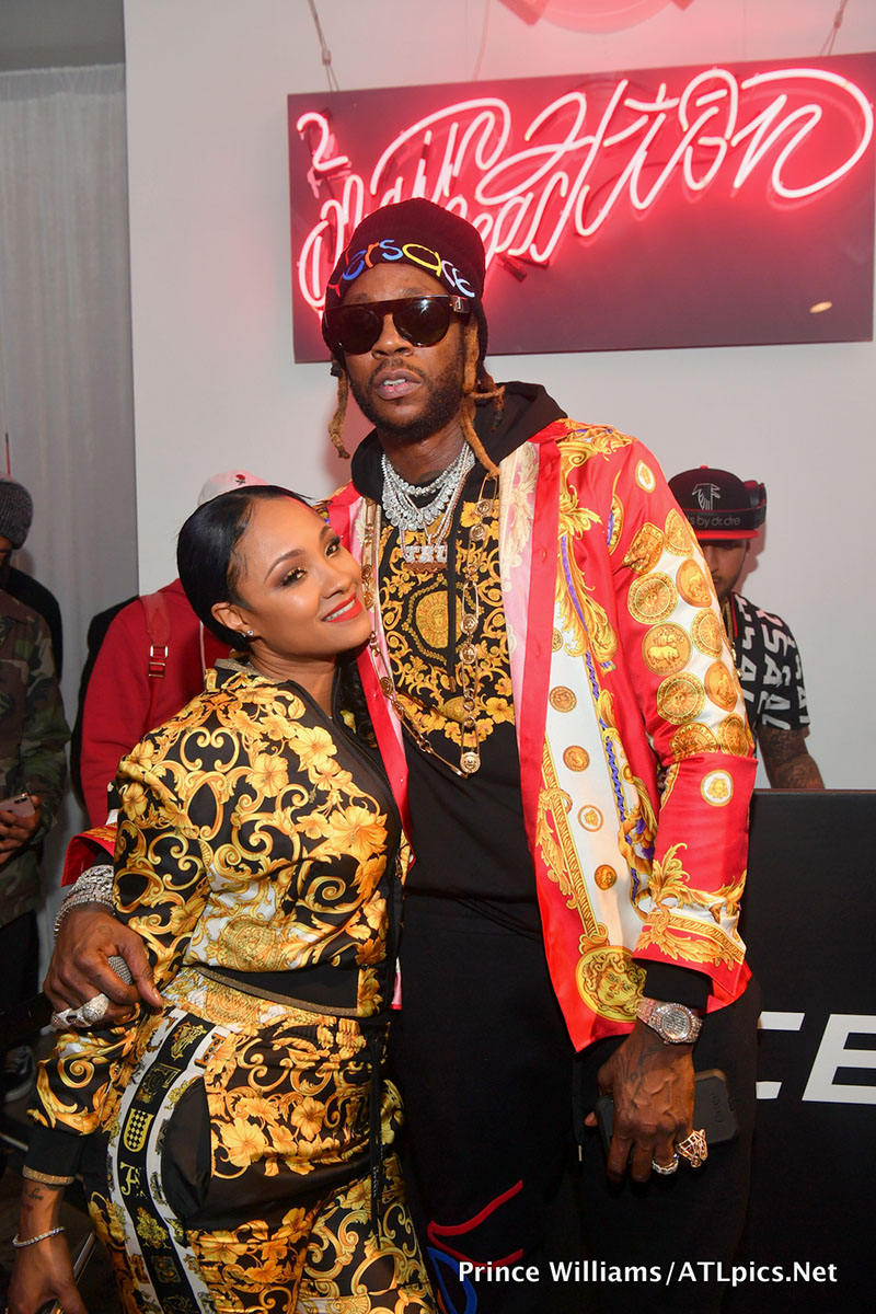 2 Chainz and his wife Kesha Ward hosted the launch party for