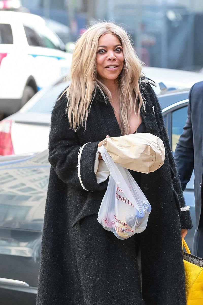 Bag Lady Wendy Williams Returns To Sober House With Lunch