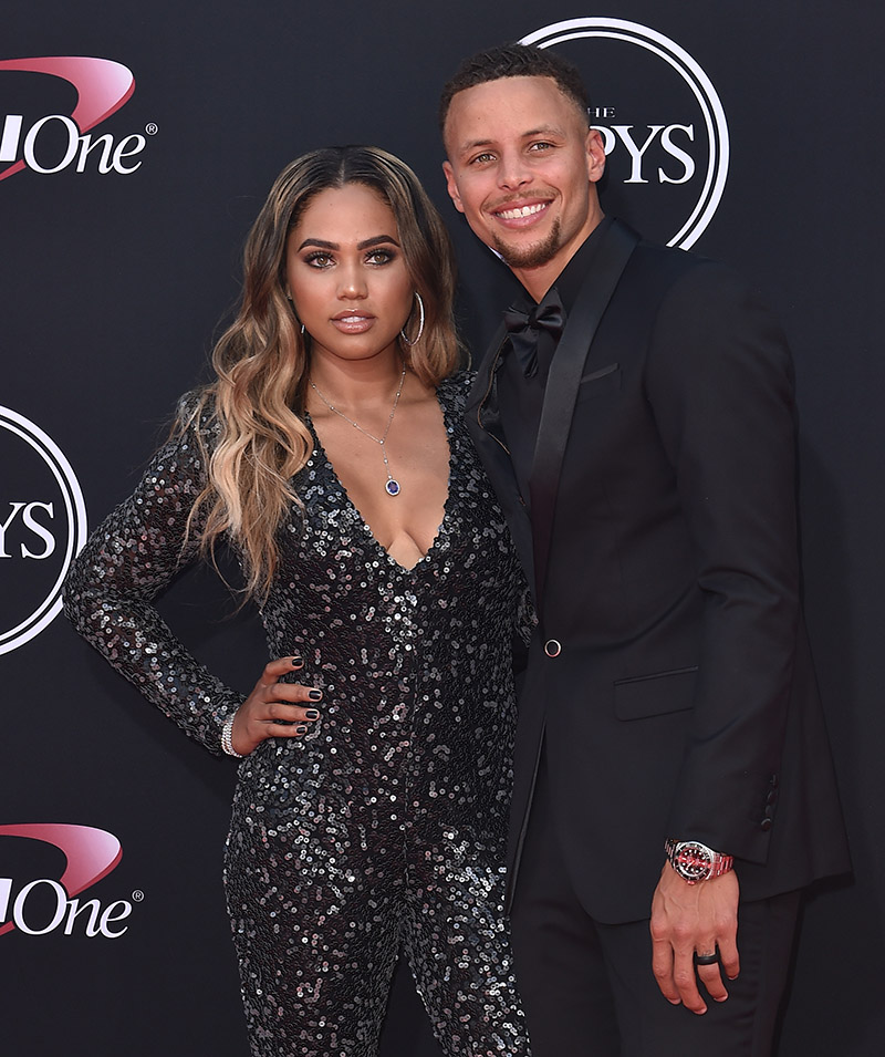 steph curry  r  and author ayesha curry arrive at the 2017